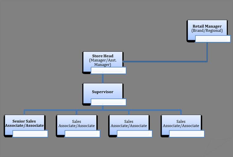 Retail Store Organizational Chart | Car Interior Design