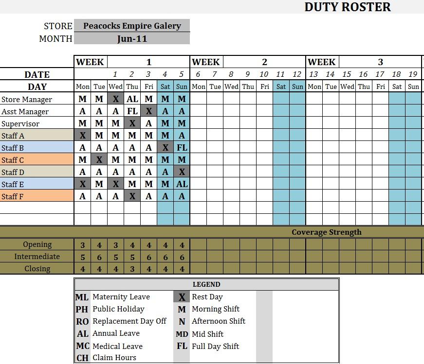 Classroom Duty Roster Design : Duty roster teacher template